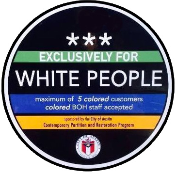 white only sticker